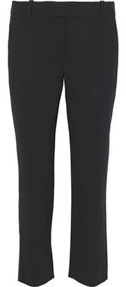 Diane von Furstenberg Robbie Cropped Stretch-wool Straight-leg Pants