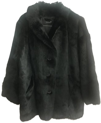 Isabel Marant Black Rabbit Coat for Women