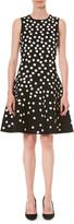 Carolina Herrera Polka Dot Fit-&-Flare Dress