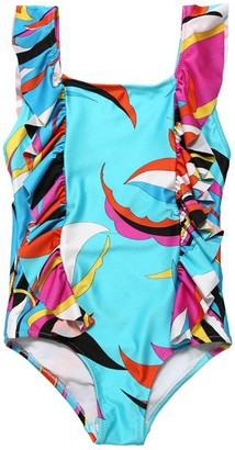 Emilio Pucci Printed Lycra One Piece Swimsuit