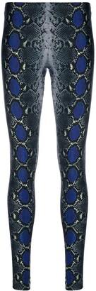 Versace Snakeskin-Print Leggings