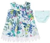 Catimini Mint Floral Print Dress with Briefs