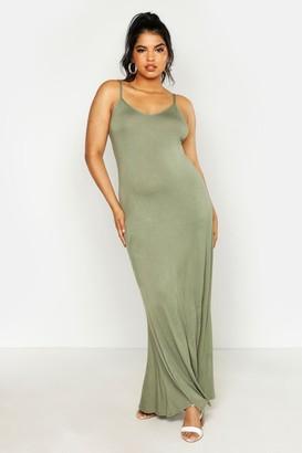 boohoo Plus Basic Swing Maxi Dress