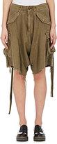 R 13 Women's Distressed Cotton Drop-Rise Cargo Shorts