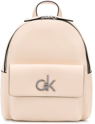 Calvin Klein Logo Turn-Lock Backpack