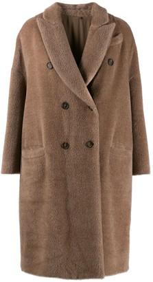Brunello Cucinelli Double Breasted Fur Coat