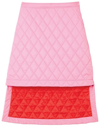 Burberry Quilted Dipped Skirt