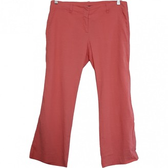 Theory Orange Linen Trousers