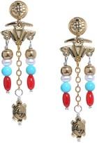American West Sterling & Brass Santa Fe Charm Beaded Earrings