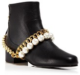 Moschino Booties - Faux-Pearl Chain