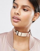 Asos Wide Metal Choker Necklace