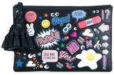 Anya Hindmarch Leather sticker clutch bag