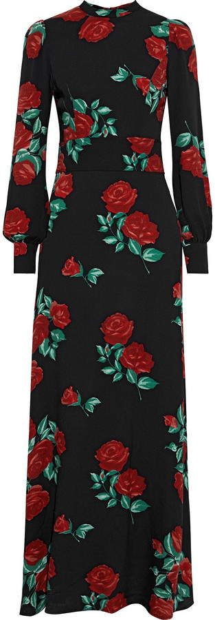 Reformation Carnation Floral-print Crepe Maxi Dress