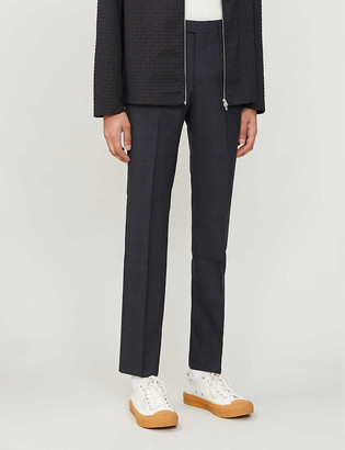Reiss Roody check stretch-woven trousers