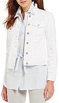 Daniel Cremieux Marley White Denim Button Front Jacket
