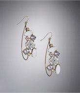 Embellished Oval Hoop Earrings