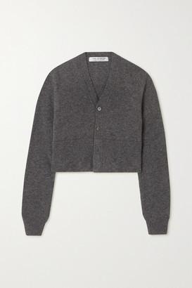 Comme des Garçons Comme des Garçons Cropped Melange Wool Cardigan - Gray