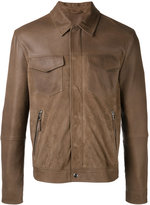 Eleventy shirt jacket with zip pockets - men - Cotton/Suede/Polyester/Spandex/Elastane - 50