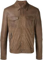 Eleventy shirt jacket with zip pockets - men - Cotton/Suede/Polyester/Spandex/Elastane - 54