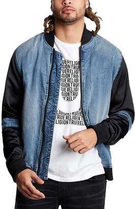 True Religion Men's Denim Jackets FPSL - Light Neutron Denim Bomber Jacket - Men