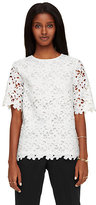 Kate Spade Floral lace short sleeve top