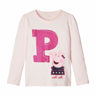 Name It Girls' NMFPEPPAPIG Denise LS TOP NOOS PEP T-Shirt