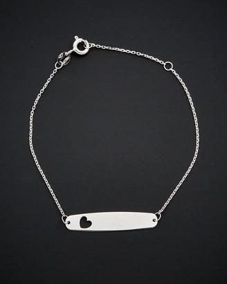 Italian Gold 14K Adjustable Heart Bracelet