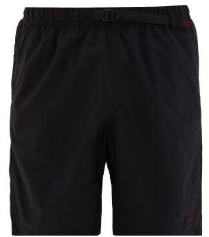 Gramicci Clip-belt Relaxed Shell Shorts - Mens - Black