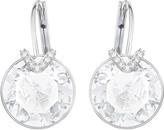 Swarovski Bella V Pierced Earrings, Large, White, Rhodium plating