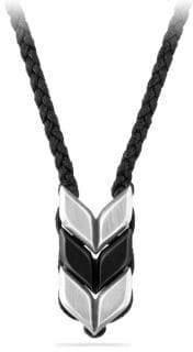 David Yurman Chevron Woven Necklace with Black Onyx
