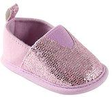 Luvable Friends Girl's Sparkly Slip-On Girl's Boat Shoe