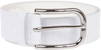 Orciani White Leather Belt