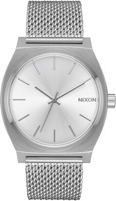 Nixon The Time Teller Milanese Mesh Strap Watch, 37mm