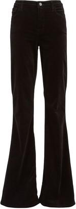 J Brand Valentina Flared Velvet Pants