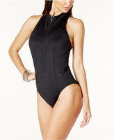 Magicsuit Zip-Front Racerback One-Piece Swimsuit