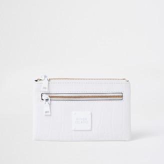 River Island Womens White mini zip pouch purse