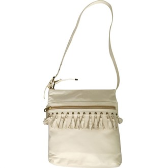 Badgley Mischka White Leather Handbags