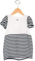 Armani Junior Girls' Striped Shift Dress