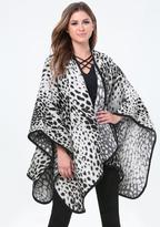 Bebe Leopard Print Ruana