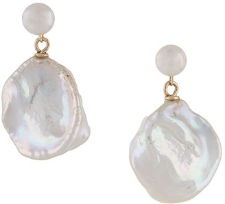NATASHA SCHWEITZER 9kt yellow gold Keshi pearl earrings
