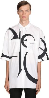 Givenchy MACRO LOGO PRINTED COTTON POPLIN SHIRT