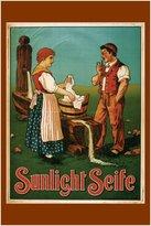 HSE sunlight soap VINTAGE AD POSTER switzerland 1900 24X36 top notch collectors