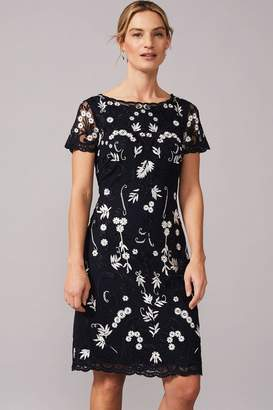 Phase Eight Womens Blue Floris Embroidered Dress - Blue