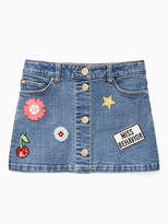 Kate Spade Toddlers patched denim skirt