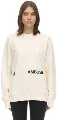 Ambush Printed Cotton Jersey Sweatshirt