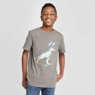 Cat & Jack Boys' Short Sleeve Dinosaur Graphic T-Shirt - Cat & JackTM