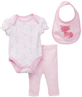 Rene Rofe Fox Bodysuit, Legging, & Bib Set (Baby Girls)