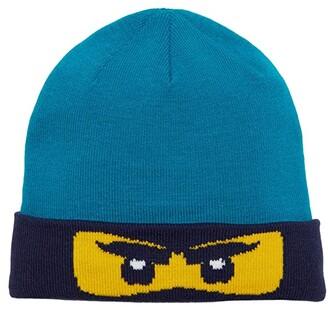 Lego Kids Snow Beanie with Ninjago Design (Toddler/Little Kids/Big Kids) (Dark Turquoise) Caps