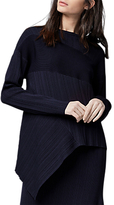 Warehouse Ribbed Asymmetric Jumper, Navy