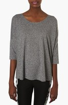 Topshop Heathered Oversized Top